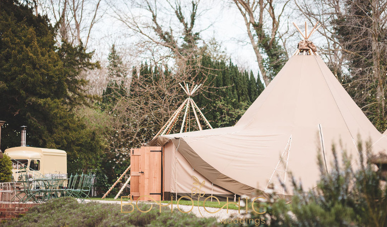 two tipis by serentipi in yorkshire