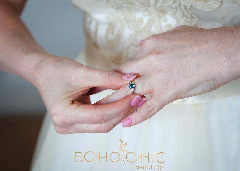 engagement ring by leeds wedding photographer Catherine at boho chic weddings