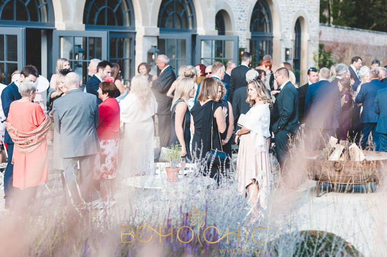 guests at a middleton lodge wedding at the Fig House