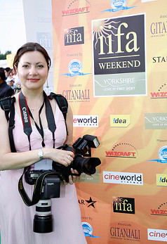 Professional Wedding Photographer Catherine Kerr at the Indian International Film Awards