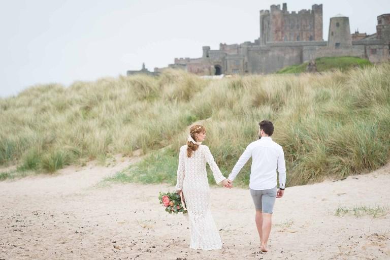bamburgh castle wedding photography by catherine kerr