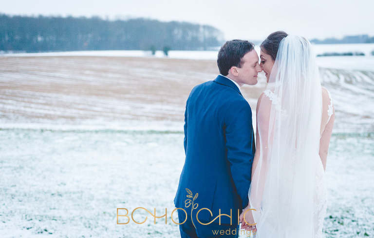 winter wedding at priory cottages