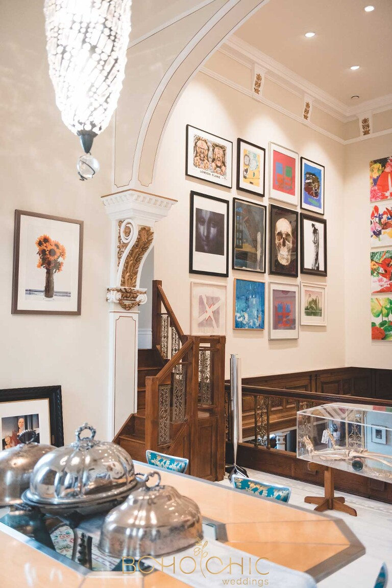 eclectic art work at the chapel harrogate in north yorkshire