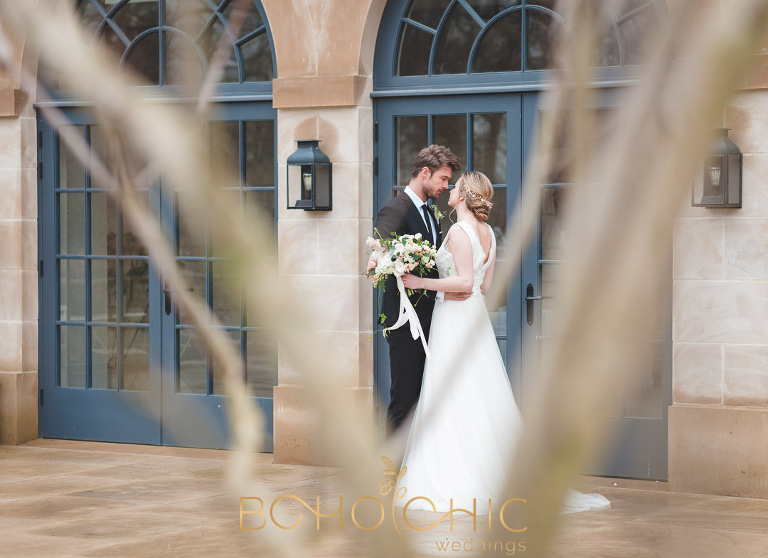 fwedding couple at the fig house at middleton lodge