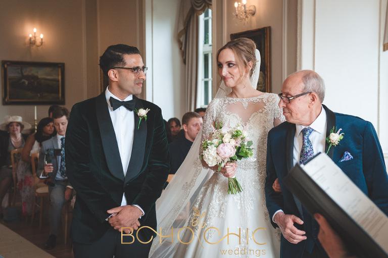 wedding ceremony at the elegant goldsborough hall a north yorkshire wedding venue