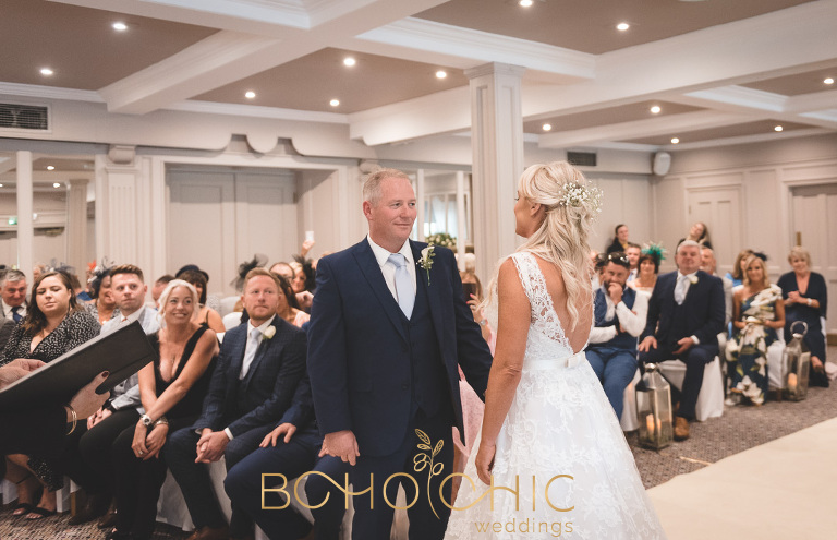 wedding ceremony at the Devonshire Arms hotel in Bolton Abbey